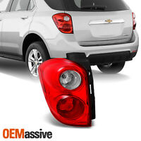 Fit 10-15 Chevy Equinox Red Clear Tail Lights Driver Left Side Replacement