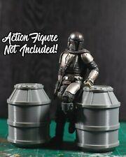 Set of 2 Star Wars/SciFi Barrels Diorama PROPS ONLY 1/12