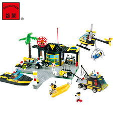 NEW ENLIGHTEN Police Maritime Rescue Centre Building Blocks Minifigures Gift Toy