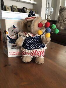 Collectible Steiff Golden Age of the Circus Mohair Baby Elephant Balloon Seller