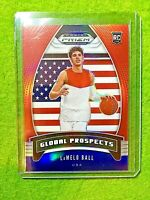LAMELO BALL PRIZM ROOKIE CARD JERSEY #1 NBL RC HORNETS 2020 Prizm RED WHITE BLUE