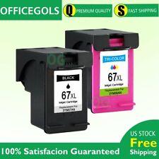Combo Black & Color Ink Cartridge for HP #67 67XL DeskJet Plus 4140 4152 4155