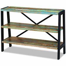 Vidaxl aparador con 3 estantes de madera maciza reciclada mesa auxiliar armario
