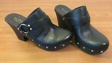 Korks Clogs Black Leather by Kork Ease 7