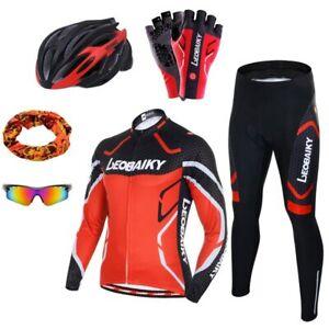 Pro Team Cycling Clothing BrandMen Long Sleeve Bicycle Jersey Set Sport MTB Wear