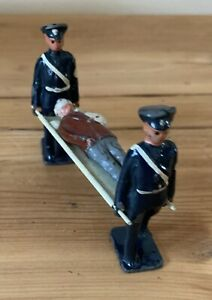 Vintage Army Stretcher Bearers with Wounded Man on Stretcher