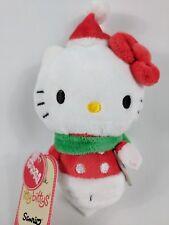 "NEW Hello Kitty 5"" Plush Hallmark Itty Bittys Christmas Holiday Scarf Santa Hat"