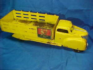 Early 1950s MARX Pressed Steel COCA COLA Toy DELIVERY TRUCK