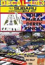 DECAL 1/43 SUBARU IMPREZA 555 C.MCRAE RAC 1994 WINNER (04)
