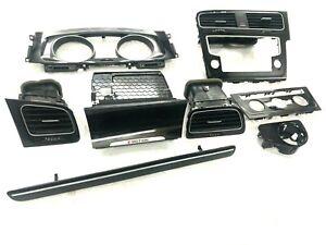 VW GOLF R MK7 INTERIOR DASH TRIMS SET BLACK GENUINE