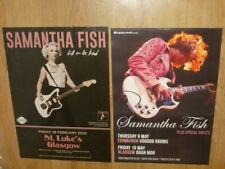 Samantha Fish live 2019-20 - 2 concert posters Scottish gigs Music memorabilia