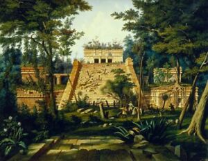 """high quality oil painting handpainted on canvas """"The Temple of Tulum """""""