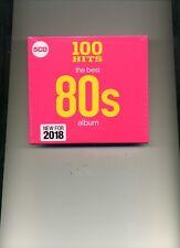 100 HITS - THE BEST 80S ALBUM - DONNA SUMMER BELINDA CARLISLE - 5 CDS - NEW!!
