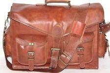 """Men's Retro Leather Vintage Laptop Shoulder Briefcase Messenger Bag Satchel 15"""""""