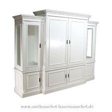 Wohnzimmerschrank,Fernsehschrank,Anbauwand,Schrank,Weichholz,Landhausstil, weiß