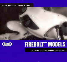 2006 BUELL FIREBOLT XB9R & XB12R MOTORCYCLE SERVICE MANUAL-NEW SEALED-XB9R-XB12R