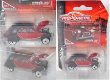 Majorette 212052010 Citroen 2CV, rot/schwarz, VINTAGE