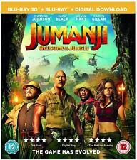 Jumanji Welcome To The Jungle Blu-ray 3D + Blu-ray Brand New Sealed