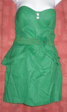 GREEN G:21 STRAPLESS PARTY DRESS IN SIZE 12 UK SOME LOVELY DETAIL +ELASTIC BELT