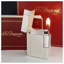 Briquet gaz* St Dupont Paris box *Silver.Pl- Lighter-Feuerzeug-Accendino-打火机