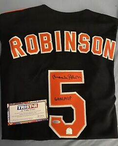 Brooks Robinson Autographed signed Baltimore Orioles Black Jersey #5 TriStar
