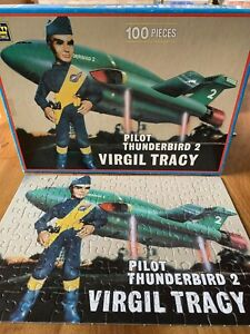 Thunderbirds Jigsaw Pilot Thunderbird 2 Virgil Tracy King 1992 100 Piece Puzzle