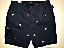 Nautica men's classic fit all over embroidered nautical flags size 38 shorts
