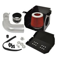 "JDM 3/"" Performance Air Intake Filter HP Gain High Flow Stainless Steel Black Red"
