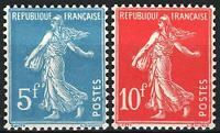 "FRANCE YVERT 241-42 SCOTT 241a-b "" SOWER STRASBOURG EXHIBITION 1927"" MH VVF P282"
