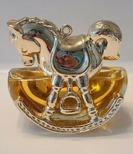 Vintage Avon Perfume: Golden Rocking Horse, Sweet Honesty, 0.75 fl.oz. Full