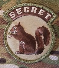 TOP SECRET SQUIRREL BLACK OPS ARMY MORALE MULTICAM VELCRO® BRAND FASTENER PATCH