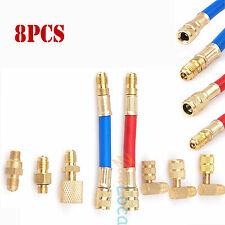 A/C R134A R12 Converting Adapter QUICK COUPLER Manifold Gas Connector Hose Kits