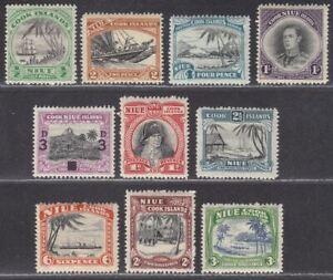 Niue 1932-46 KGV-KGVI Selection to 3sh Mint