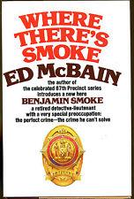 Where There's Smoke by Ed McBain-1975-First Benjamin Smoke Novel