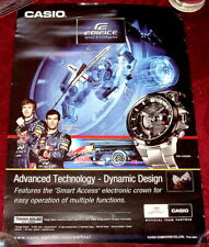CASIO EDIFICE / RED BULL RACING WATCH POSTER EX..FORMULA 1 VETTEL WEBBER