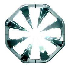 Rejilla redonda extensible aluminio cromado woofer Ø380>480