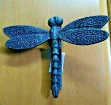 Garden Nature Entry Door Knocker Cast Iron Large Dragonfly Verdigris