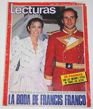 BODA DE FRANCIS FRANCO & MARIA TAMARIT 1982 Lecturas portada & interior familia