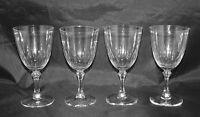 "Lenox Crystal Set of 4 Wine Glasses 6"" high"