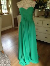 GRACE EMERALD GREEN EVENING LONG BALL GOWN PROM CRUISE ONE SHOULDER DRESS 8 36