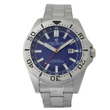 Croton Aquamatic Men's CA301298SSBL Quartz Blue Dial Silver-Tone 44mm Watch