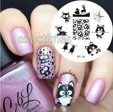 Nail Art Stamping Plate Cat Deer Sheep Image Template BP #59 BORN PRETTY