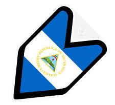## JDM DRIVER BADGE NICARAGUA NICARAGUAN Car Decal Flag not vinyl sticker ##