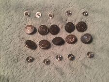 10 Vintage Levi Strauss Metal Replacement Buttons