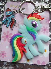 LARGE KEYRING  DOUBLE SIDED  MY LITTLE PONY RAINBOW DASH  ,[ GIFT BAG, BIRTHDAY