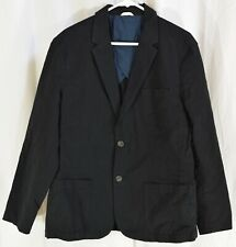 Goodthreads Men's Slim-Fit Linen Blazer Black Size Large