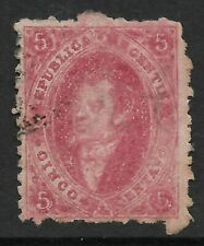 STAMPS-ARGENTINA. 1864. 5c Rose Lilac. Wmk RA. Perf 11½. SG: 16/GJ: 19. Used.