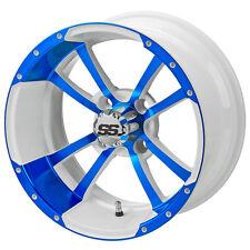 4 215/35-12 Tire on a 12x7 White/Blue Maltese Cross Wheel W/Free Freight