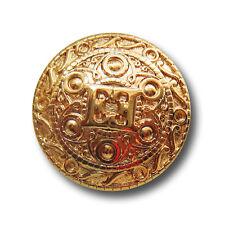 5 luxuriöse glänzend goldfarbene Designer Knöpfe aus Metall (y006go-15)