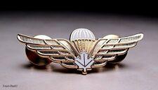Canadian Airborne White Maple Leaf  Wing Badge Medium Size